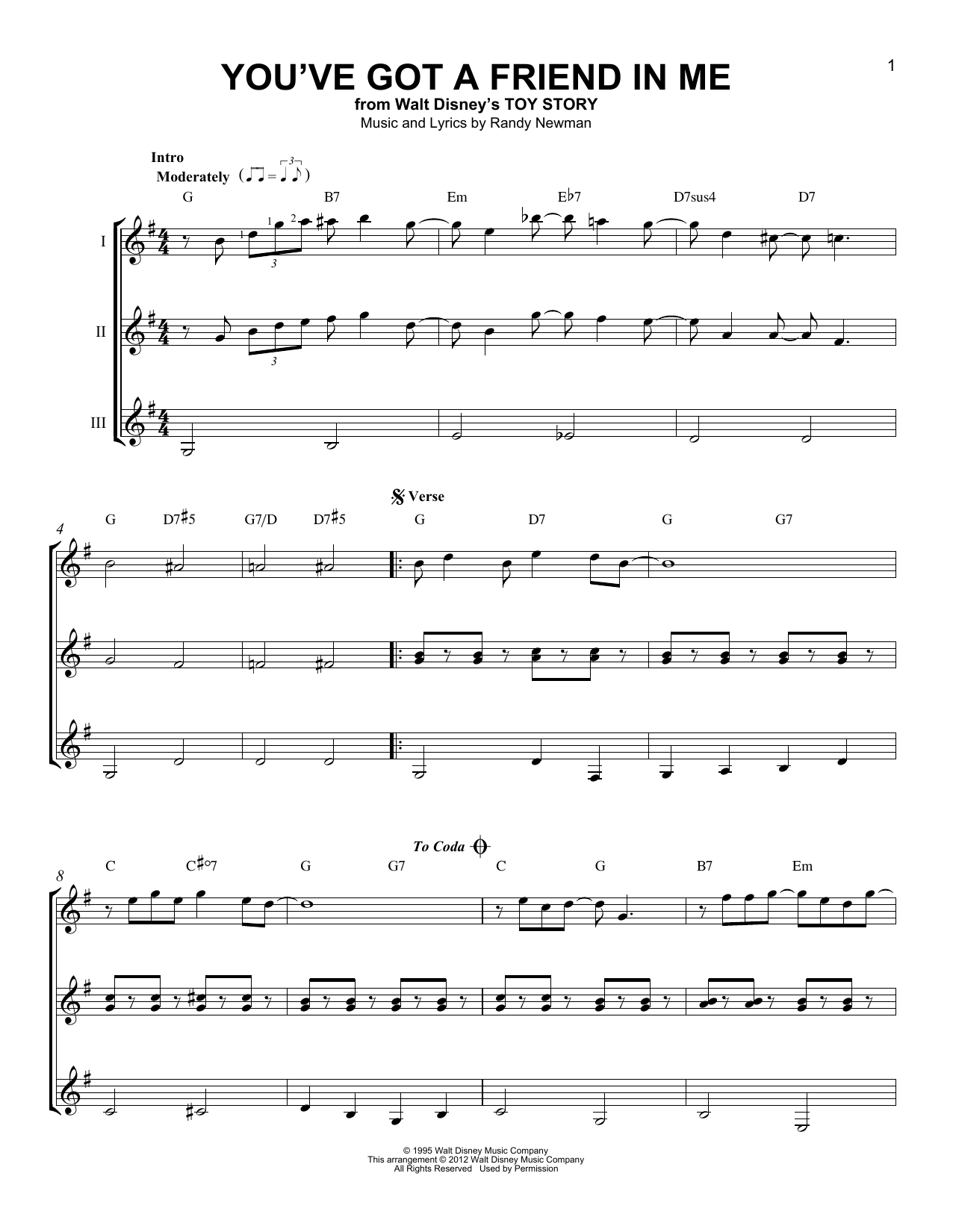 Partition autre You've Got A Friend In Me de Randy Newman - Autre