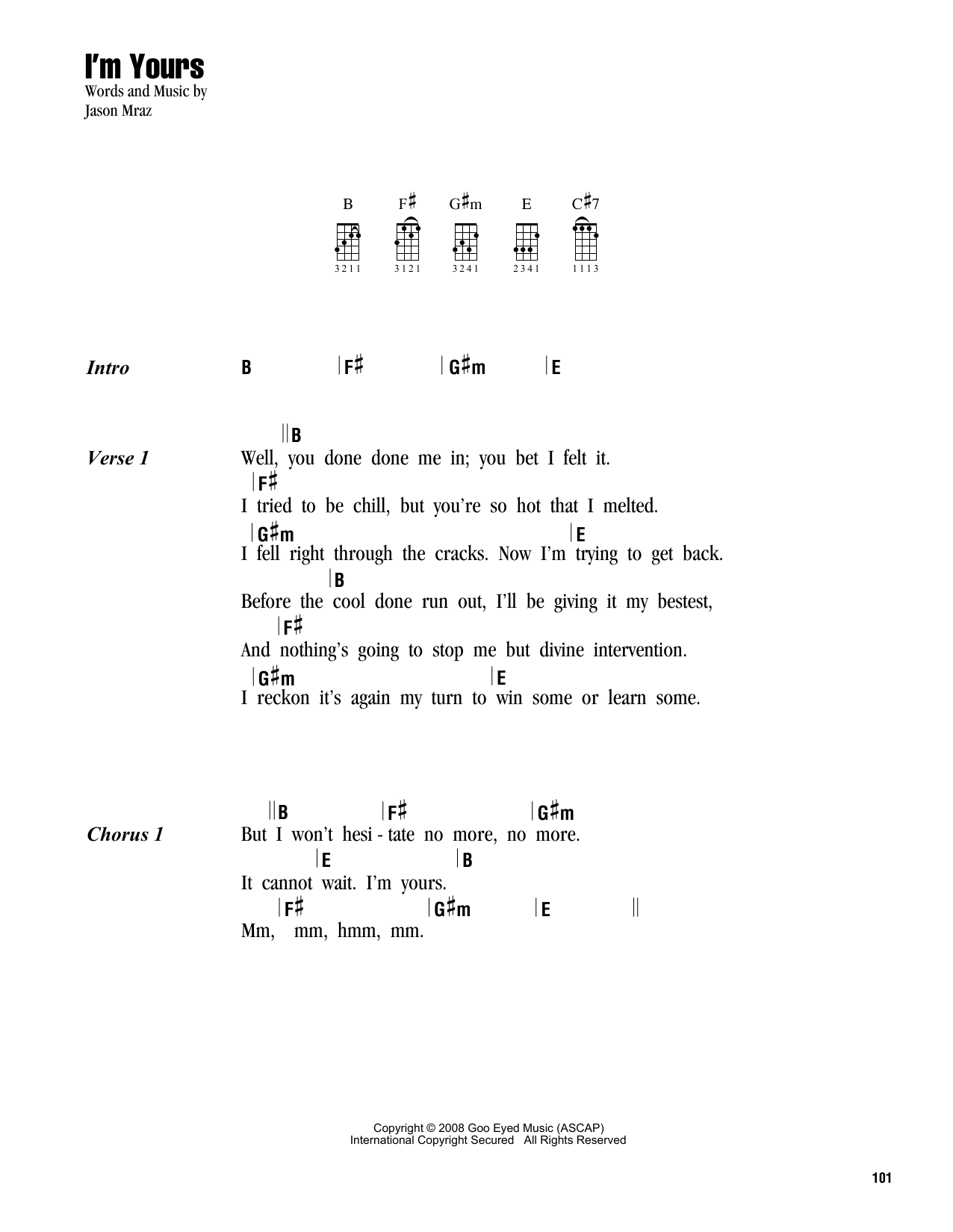 Sheet Music Digital Files To Print - Licensed Ukulele Chords/Lyrics ...