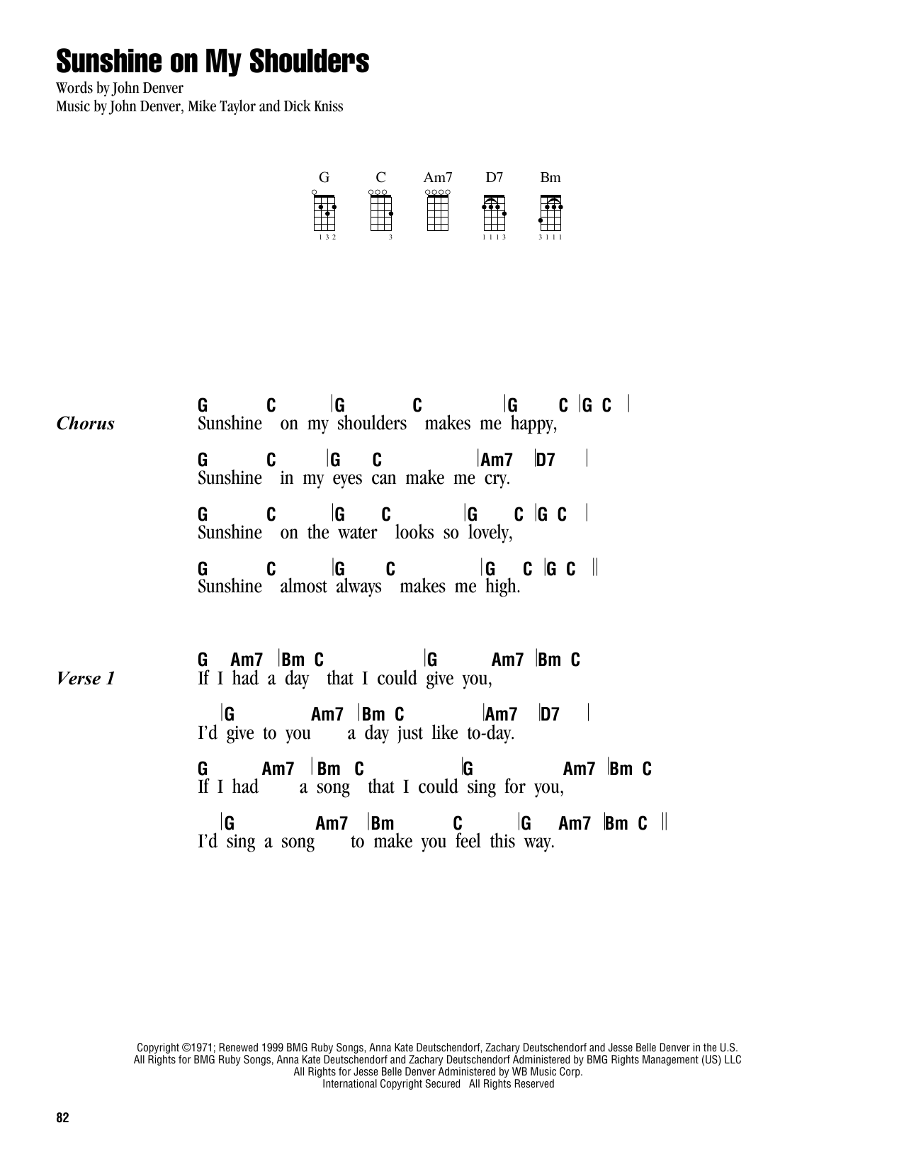 Sheet Music Digital Files To Print Licensed John Denver Digital