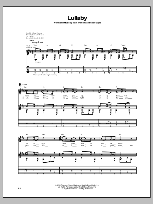Sheet Music Digital Files To Print - Licensed Creed Digital Sheet Music