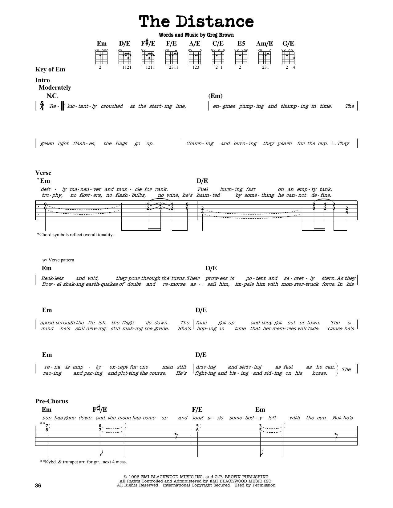 Partition autre The Distance de Cake - Tablature Guitare Lead