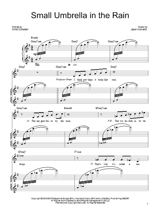 Small Umbrella In The Rain : Sheet Music Direct
