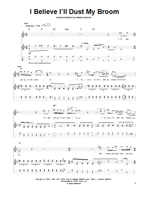Tablature guitare I Believe I'll Dust My Broom de Robert Johnson - Ukulele