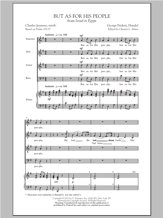 Partition chorale But As For His People de Chester Alwes - SATB
