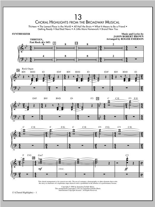 13 (complete set of parts) sheet music for orchestra/band (Rhythm Section) by Roger Emerson