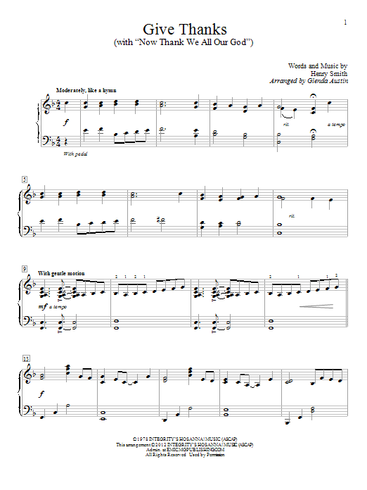 Sheet Music Digital Files To Print - Licensed Henry Smith Digital ...