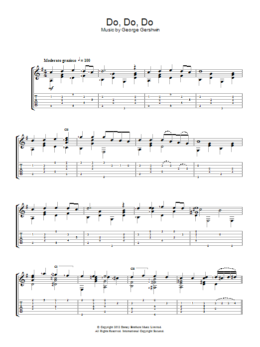 Do Do Do sheet music for guitar solo (chords) by George Gershwin