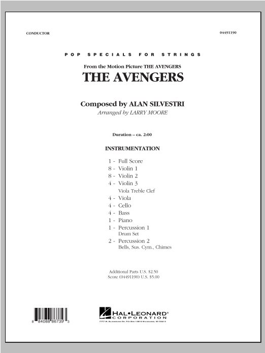 The Avengers (Main Theme) (COMPLETE) sheet music for orchestra by Larry Moore