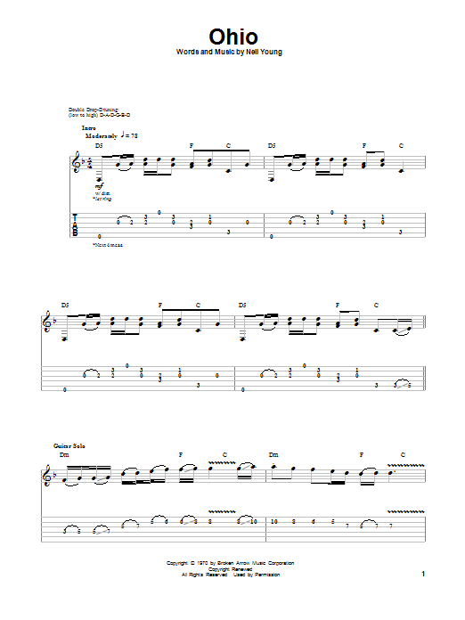 Ohio by Neil Young - Guitar Tab Play-Along - Guitar Instructor