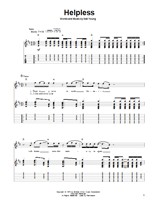 Sheet Music Digital Files To Print - Licensed Neil Young Digital ...