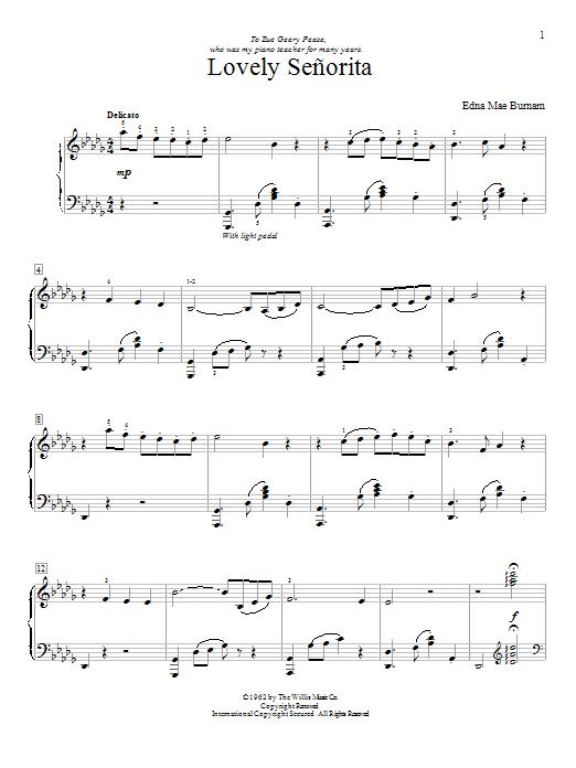Sheet Music Digital Files To Print Licensed Edna Mae Burnam