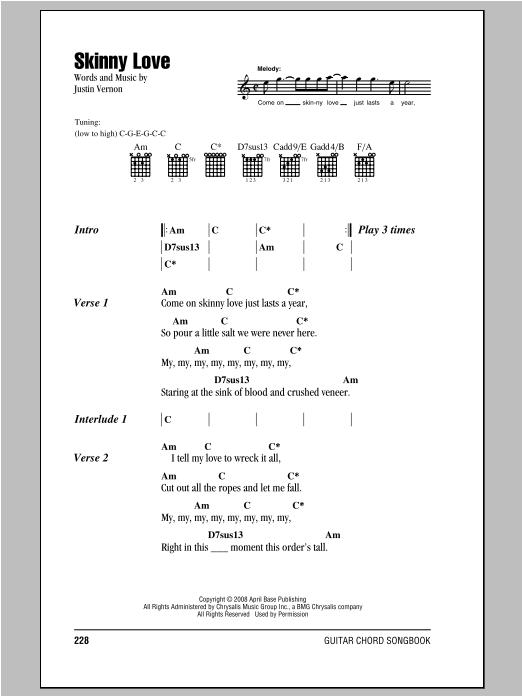 Sheet Music Digital Files To Print - Licensed Justin Vernon Digital ...