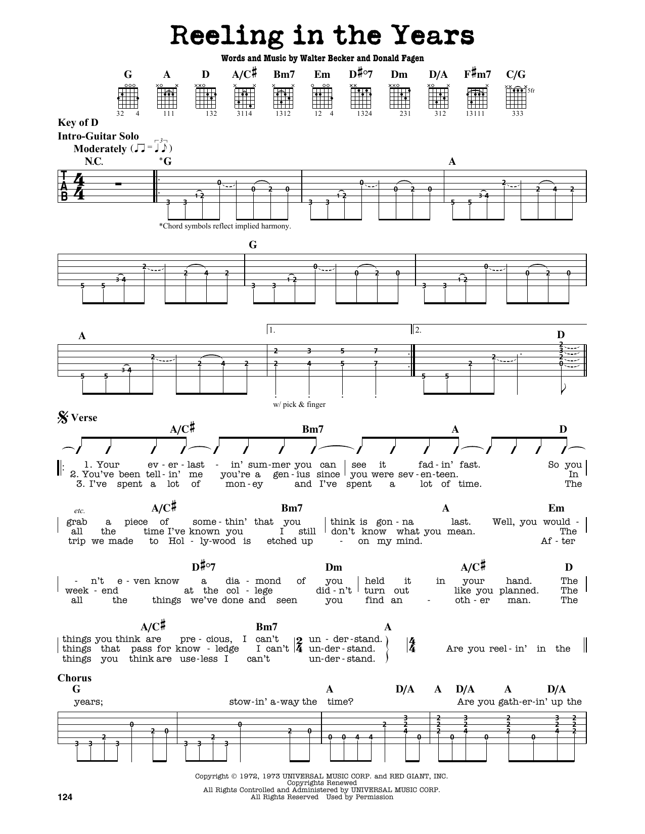 Partition autre Reeling In The Years de Steely Dan - Tablature Guitare Lead