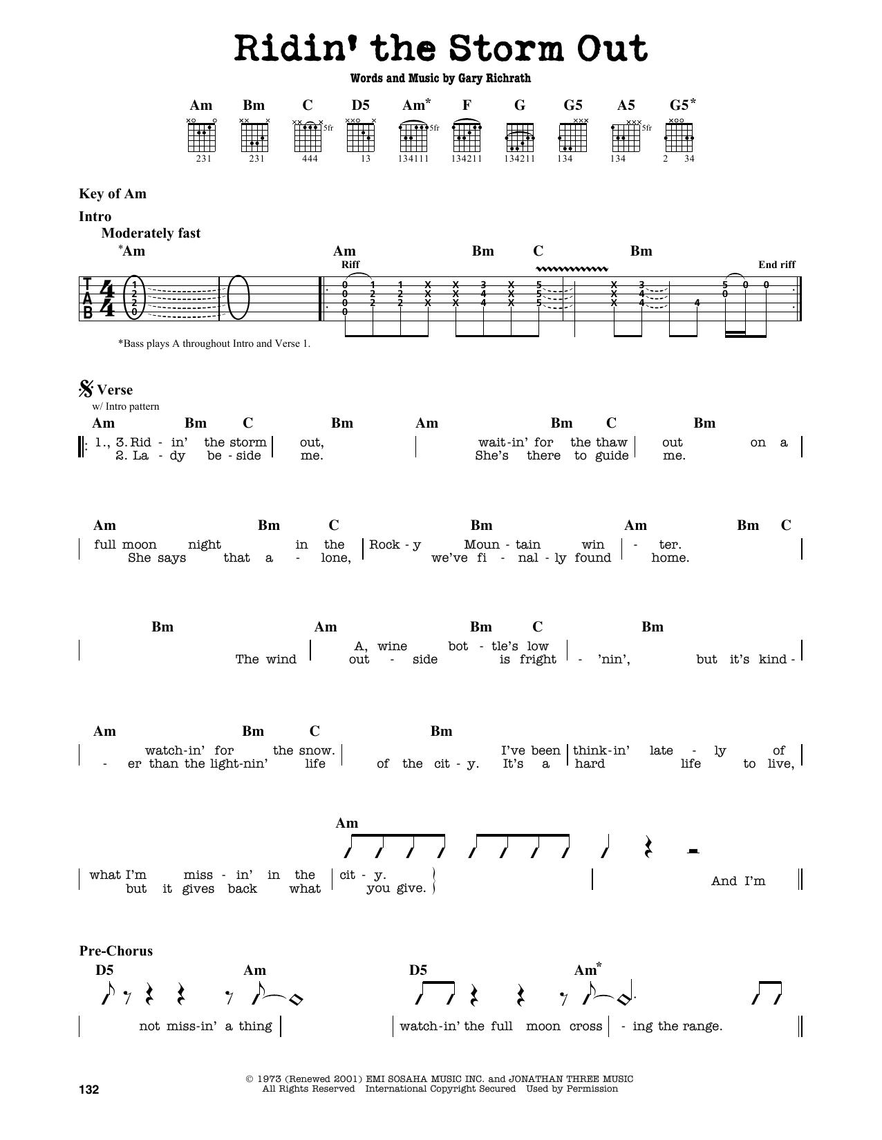 Partition autre Ridin' The Storm Out de REO Speedwagon - Tablature Guitare Lead