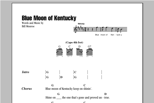Sheet Music Digital Files To Print - Licensed Bill Monroe Digital ...