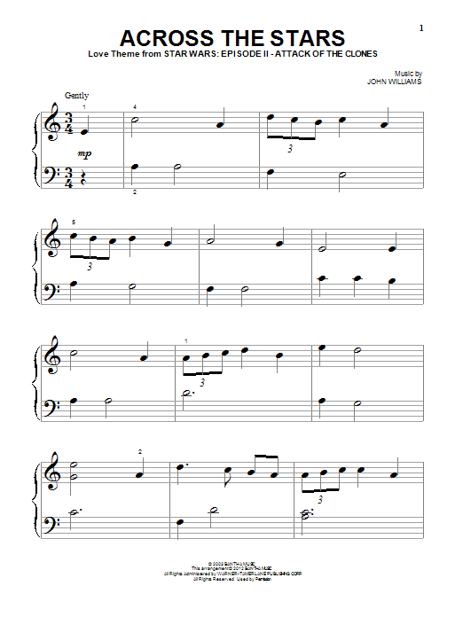 Sheet Music Digital Files To Print - Licensed Star Wars (Movie ...