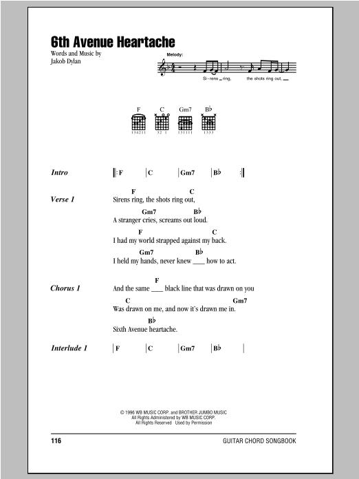 Sheet Music Digital Files To Print - Licensed Jakob Dylan Digital ...
