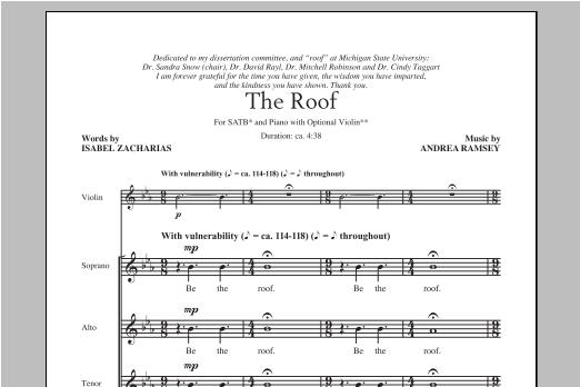 Partition chorale The Roof de Andrea Ramsey - SATB
