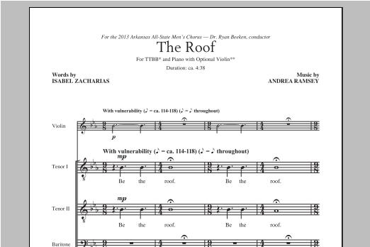 Partition chorale The Roof de Andrea Ramsey - TTBB