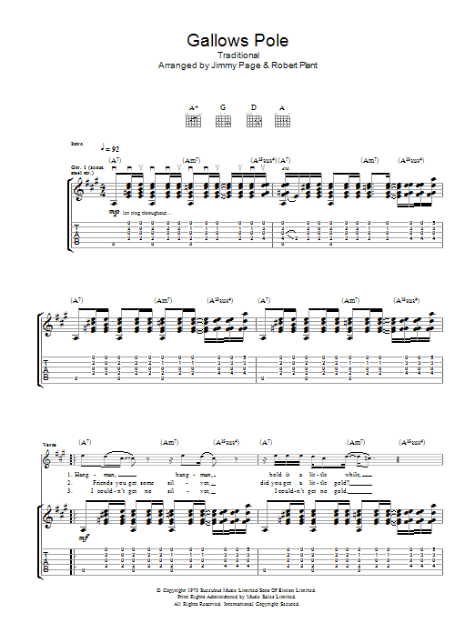 Sheet Music Digital Files To Print Licensed Led Zeppelin Digital