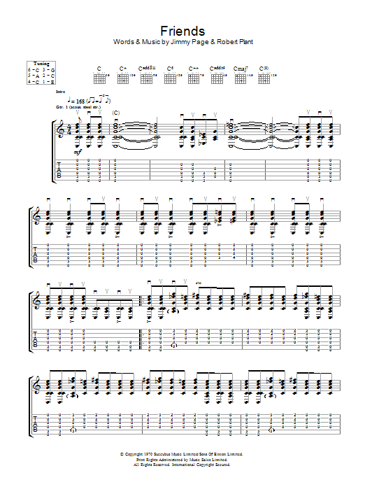 Friends by Led Zeppelin - Guitar Tab - Guitar Instructor