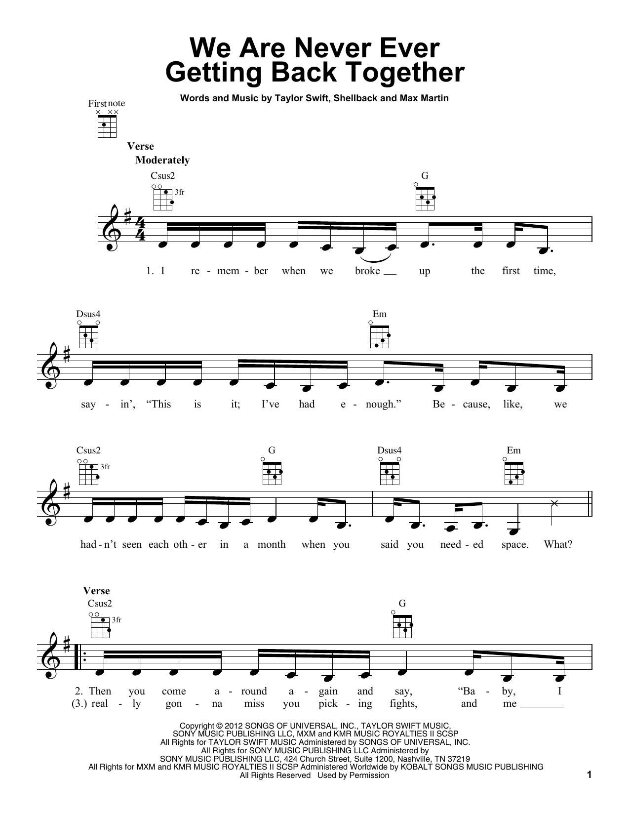 Sheet Music Digital Files To Print Licensed Ukulele Digital Sheet