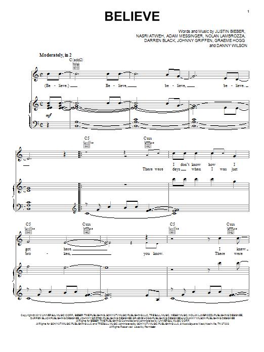 Sheet Music Digital Files To Print Licensed Justin Bieber Digital