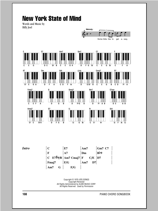 new york state of mind sax solo pdf