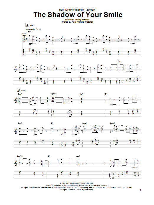 Sheet Music Digital Files To Print - Licensed Wes Montgomery Digital ...