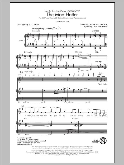 Partition chorale The Mad Hatter de Wonderland (Musical) - SAB