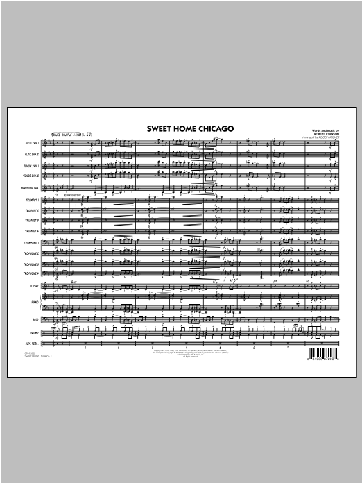 Sweet Home Chicago (COMPLETE) sheet music for jazz band by Roger Holmes