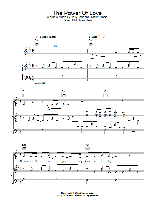 The Power Of Love sheet music for voice, piano or guitar by Gabrielle Aplin