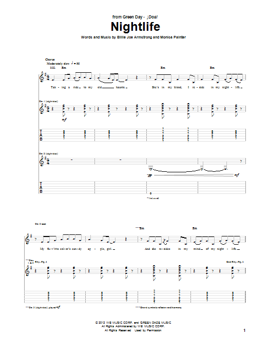 Sheet Music Digital Files To Print Licensed Green Day Digital