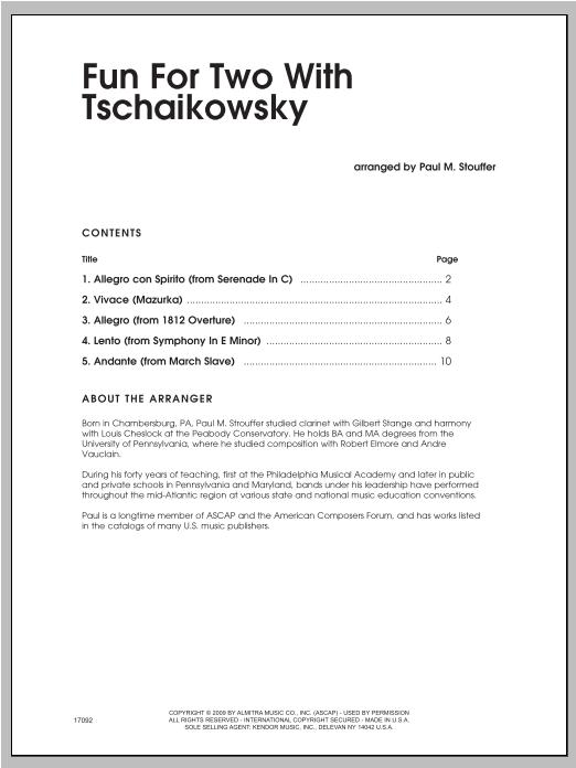 Pyotr Il'yich Tchaikovsky - Fun For Two With Tschaikowsky