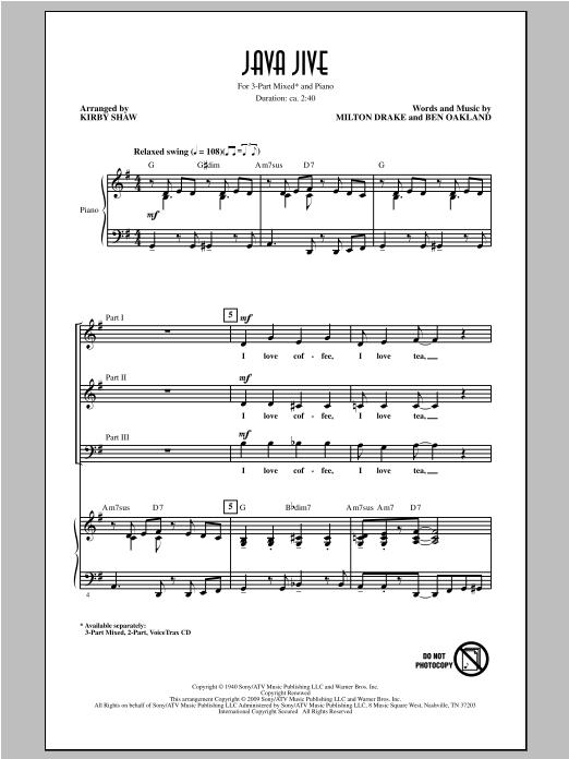 Partition chorale Java Jive de Kirby Shaw - 3 voix mixtes