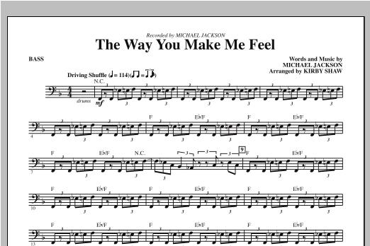 the way you make me feel bass pdf