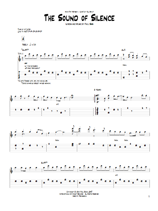 The Sound Of Silence by Pat Metheny - Guitar Tab - Guitar ...