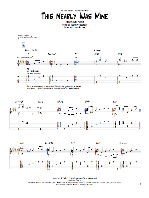 Tablature guitare This Nearly Was Mine de Pat Metheny - Tablature Guitare