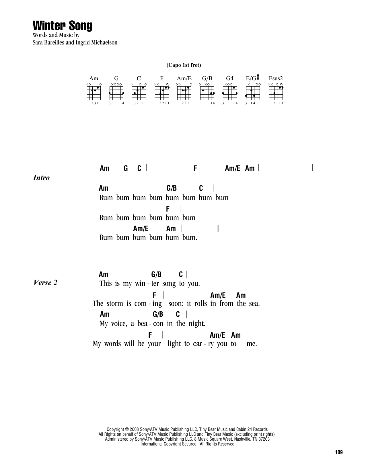 Sheet Music Digital Files To Print Licensed Ingrid Michaelson
