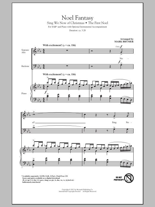 Partition chorale Noel Fantasy de Mark Brymer - SAB