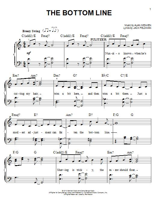 Partition piano The Bottom Line de Jack Feldman - Piano Facile