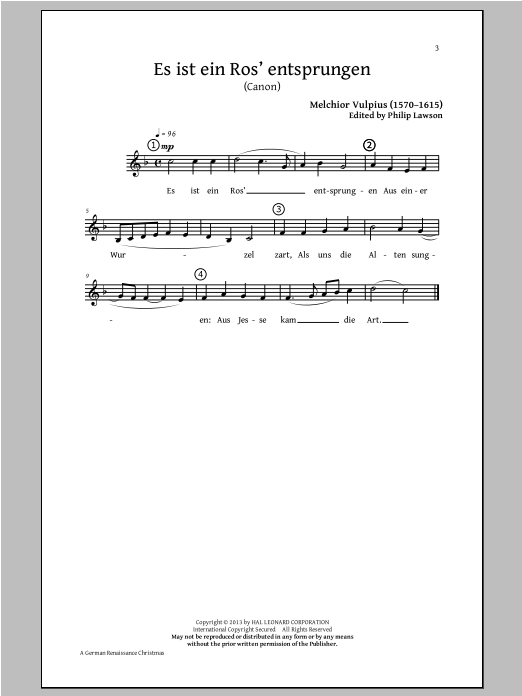 A German Renaissance Christmas (Choral Collection) sheet music for choir and piano by Philip Lawson