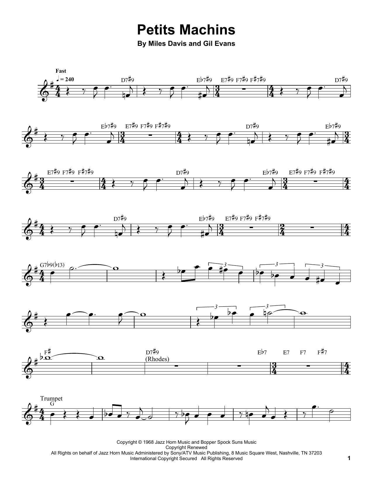 Partition autre Petits Machins de Miles Davis - Autre