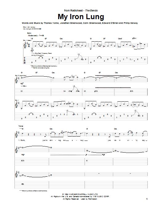 Radiohead - My Iron Lung (Tab) - Ultimate-Guitar.Com