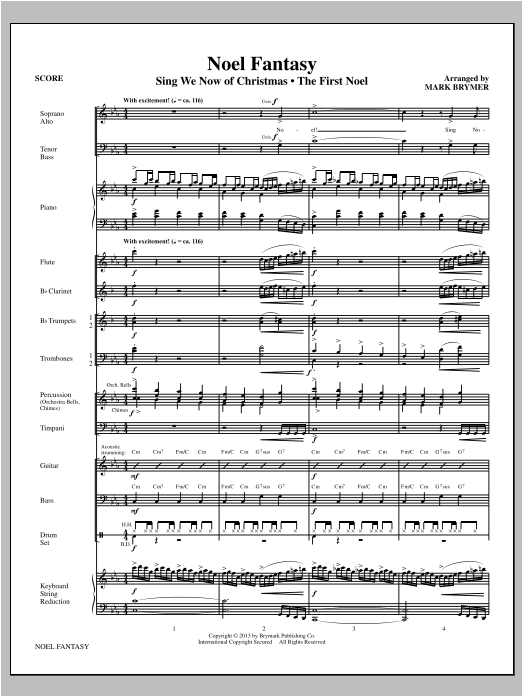 Noel Fantasy (COMPLETE) sheet music for orchestra by Mark Brymer