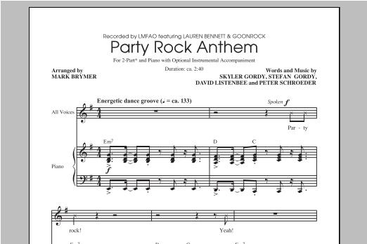 Partition chorale Party Rock Anthem de LMFAO - 2 voix
