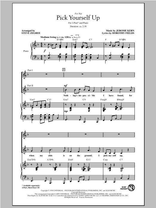 Partition chorale Pick Yourself Up de Steve Zegree - 2 voix