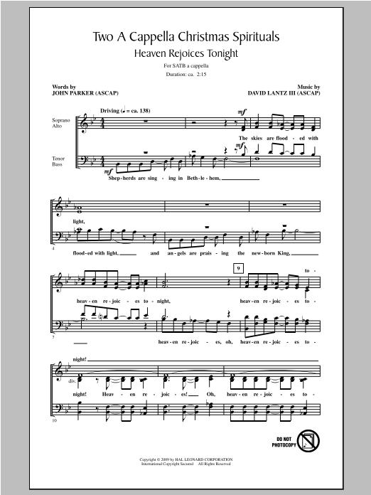 Partition chorale Two A Cappella Christmas Spirituals de John Parker - SATB