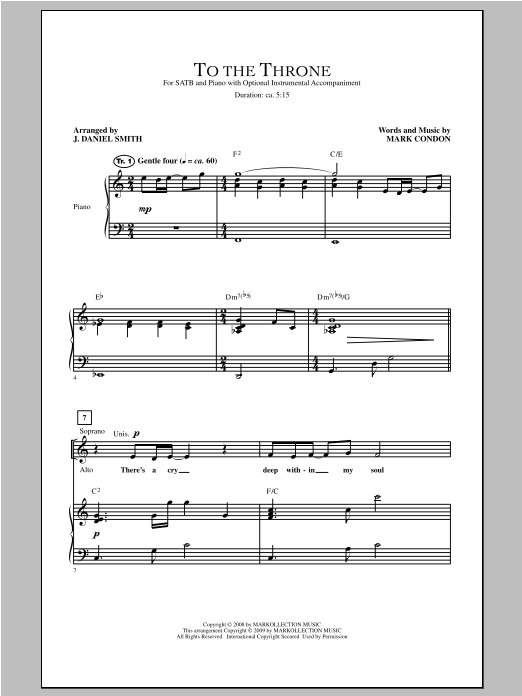 Partition chorale To The Throne de  - SATB