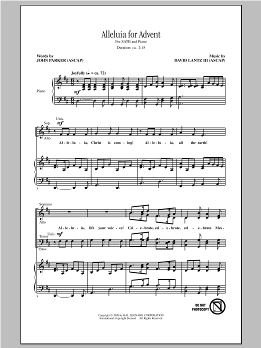 The Power Of One sheet music for choir and piano (duets) by Dan Davison